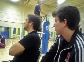 Nos coachs qui surveillent les prochains adversaires.