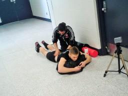 ZacStGeorges a besoin des soins de l'entraîneur.
