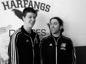 Les entraîneurs, Alexandre Mailhot et Alexandre Robitaille.