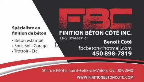 Finition Béton Cote